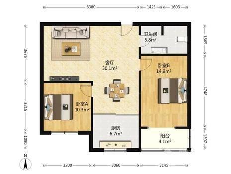 瑞特家园2室2厅1卫86㎡