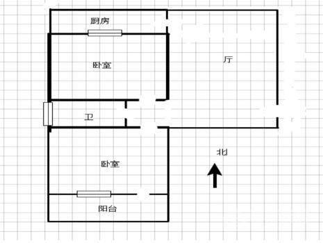 防爆队宿舍2室2厅1卫91㎡