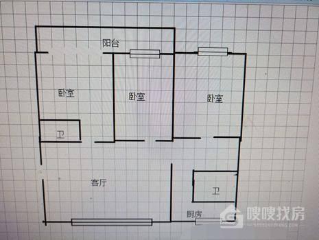 万信花园3室2厅2卫155㎡